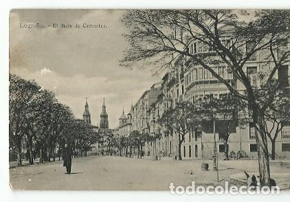 ANTIGUA POSTAL LOGROÑO EL MURO DE CERVANTES (Postales - España - La Rioja Moderna (desde 1.940))