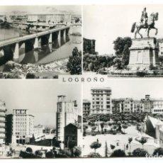 Postales: LOGROÑO Nº 24 DISTRIBUIDOR PO9STALES VICTORIA, EDICIONES L. MONTAÑÉS, CIRCULADA. Lote 224764706