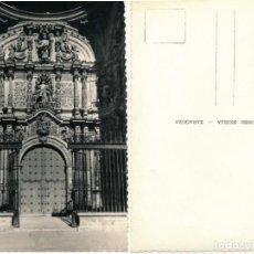 Postales: LOGROÑO PUERTA PRINCIPAL DE SANTA MARIA DE LA REDONDA,EDICIONES SICILIA. Lote 229987705