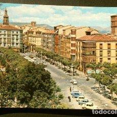 Postales: LOGROÑO (CAPITAL) 23 MURO CERVANTES -ED. G. GARRBELLA-CIRCULADA-AÑOS 60-LA RIOJA. Lote 235977920