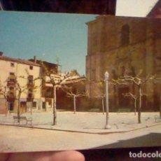 Postales: HUERCANOS LA RIOJA PLAZA ED ARRIBAS 1 ESCRITA POSTAL. Lote 237391260