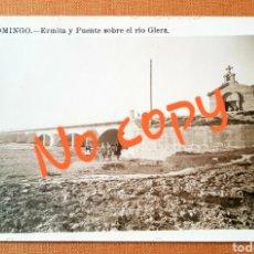 Postales: POSTAL FOTOGRÁFICA ERMITA DEL PUENTE RÍO GLERA. SANTO DOMINGO DE LA CALZADA. LA RIOJA. Lote 242356015