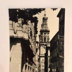 Postales: LOGROÑO. POSTAL ANIMADA NO.23, TORRES DE LA REDONDA DESDE EL ESPOLÓN. EDIC., SICILIA (A.1962). Lote 243074180