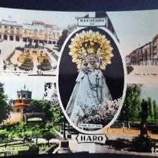 Postales: LOTE 070121- POSTAL RECUERDO HARO. LA RIOJA LIBRERÍA VELA. Lote 243191510