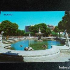 Postales: HARO --LA RIOJA -- PARQUE FLORIDA. FUENTE. Lote 244581655