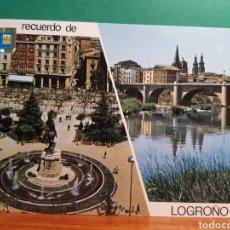 Postales: ANTIGUA POSTAL DE LOGROÑO. Lote 244868800
