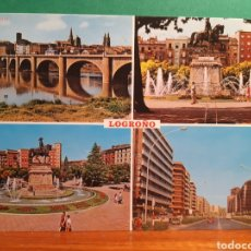 Postales: ANTIGUA POSTAL DE LOGROÑO. Lote 244869450