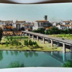 Postales: LOGROÑO RIO EBRO Y PUENTE DE HIERRO. Lote 256040045