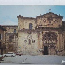 Postales: POSTAL S. DOMINGO DE LA CALZADA (RIOJA), CATEDRAL Y FACHADA PARADOR, SKORPIO. Lote 261661630