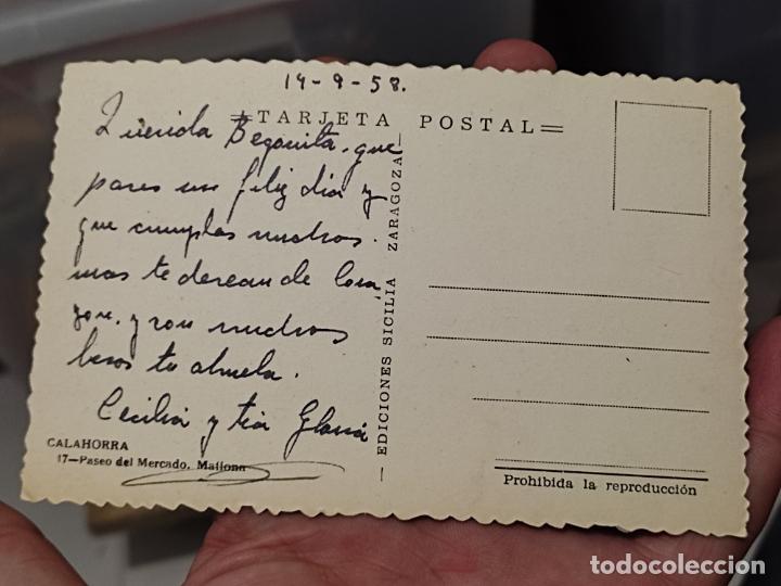 Postales: CALAHORRA LA RIOJA PASEO MERCADO MATIONA ED SICILIA 17 ESCRITA COLOREADA - Foto 3 - 267401314