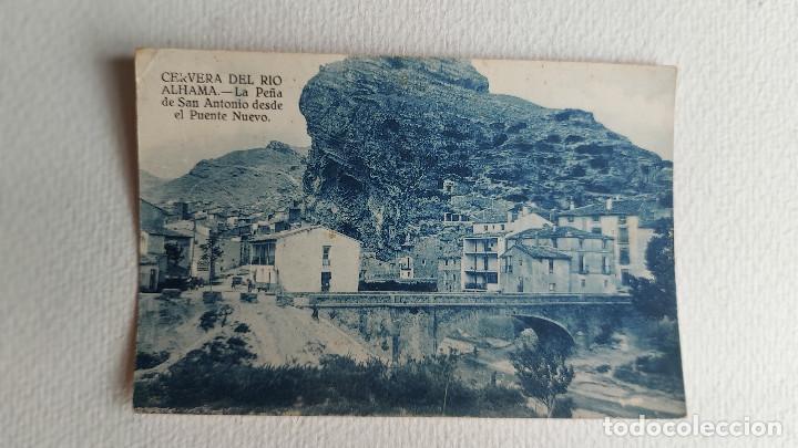 R-29.- POSTAL DE -- CERVERA DEL RIO ALHAMA-- LA PEÑA DE SAN ANTONIO DESDE EL PUENTE NUEVO (Postales - España - La Rioja Moderna (desde 1.940))