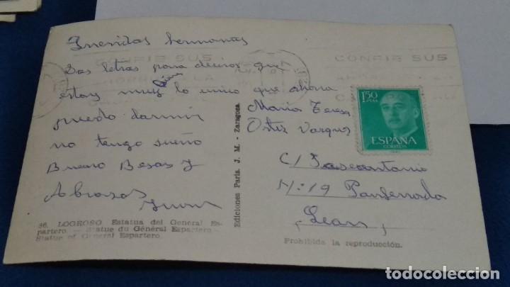 Postales: POSTAL Nº 36 EDICIONES París J. M. Zaragoza ( LOGROÑO - ESTATUA DEL GENERAL ESPARTERO ) - Foto 2 - 267683829
