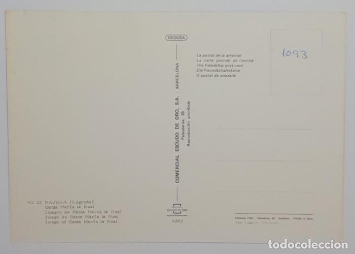 Postales: NAJERA.- Nº 12, SANTA MARÍA LA REAL. IMAGEN DE SANTA. ESCUDO DE ORO. LOGROÑO- SIN CIRCULAR - Foto 2 - 268131554