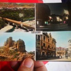 Postales: POSTAL ARNEDO VISTA GENERAL PLAZA MAYOR CASTILLO PLAZA MAYOR N 26 PARIS ESCRITA. Lote 268426914