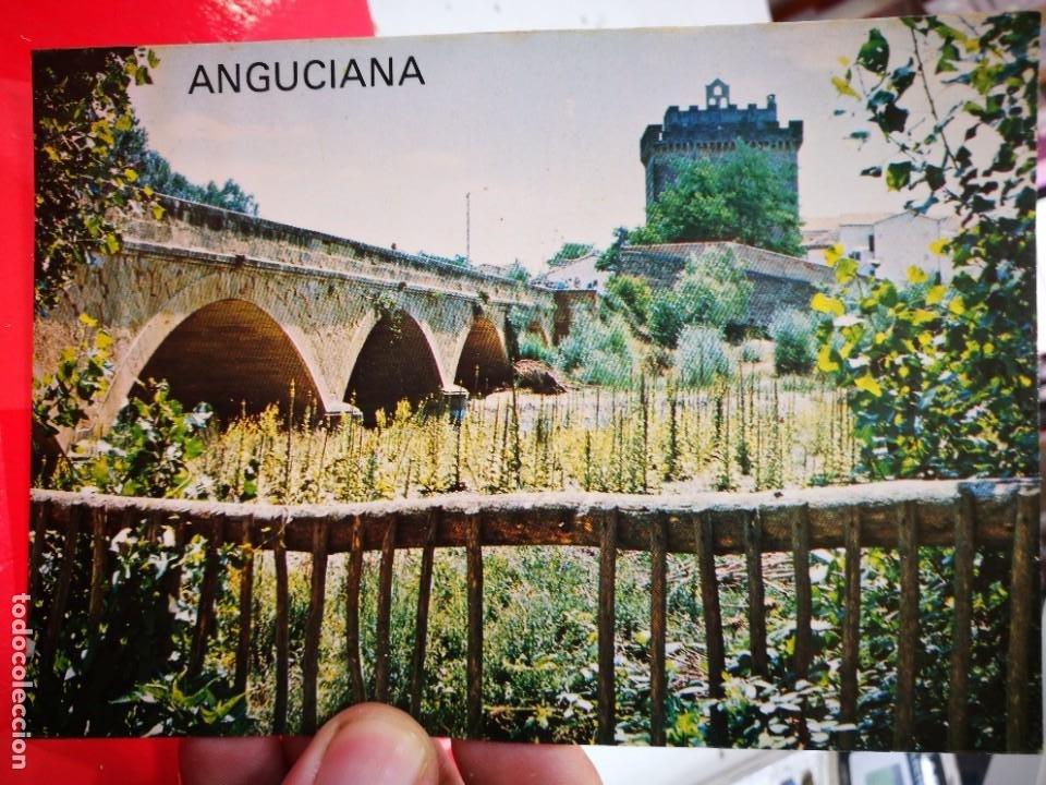 POSTAL ANGUCIANA CASTILLO Y PUENTE ROMANICO EDITA AUTOSERVICIO MENDOZA 1977 ESCRITA (Postales - España - La Rioja Moderna (desde 1.940))