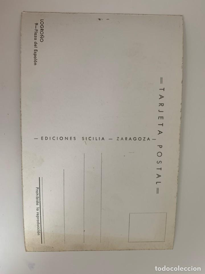 Postales: LOGROÑO - PLAZA DEL ESPOLÓN - Nº 9 ED. SICILIA - Foto 2 - 270228638