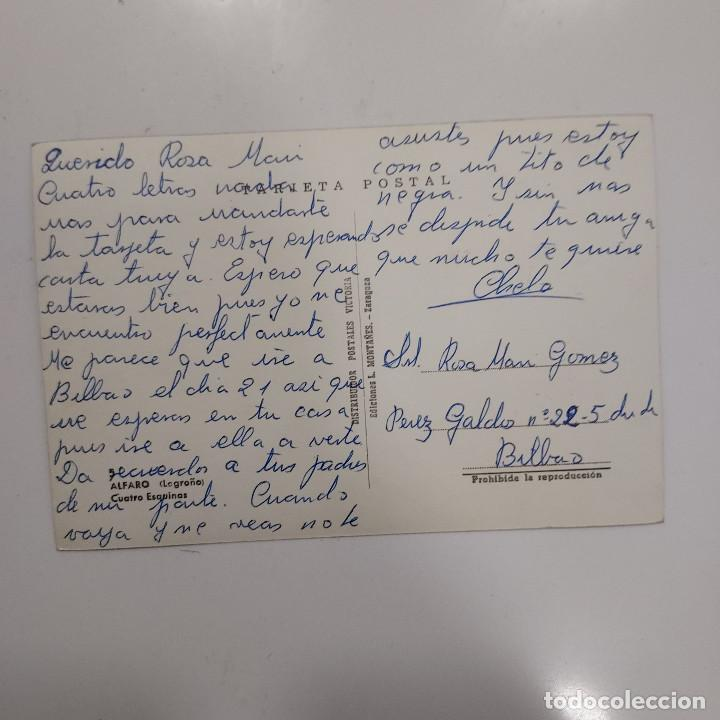 Postales: POSTAL ALFARO LA RIOJA CUATRO ESQUINAS 10x15 cm ESCRITA SIN CIRCULAR RARA COLOREADA LOGROÑO ANIMADA - Foto 2 - 274888008