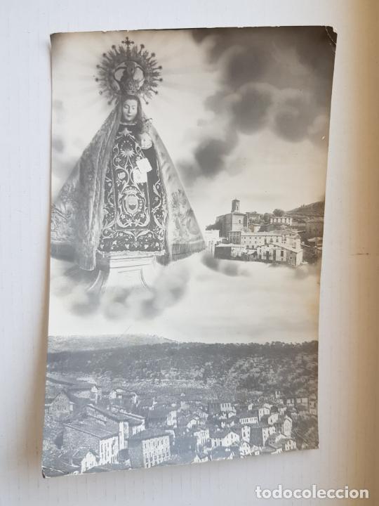 ORTIGOSA DE CAMEROS LA RIOJA LOGROÑO VIRGEN Y VISTA PARCIAL 1958 (Postales - España - La Rioja Moderna (desde 1.940))