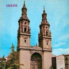 Postales: EM1085 LOGROÑO TORRES DE LA CATEDRAL REDONDA 1971 ED PARIS Nº52 DKW COMERCIAL. Lote 276990928