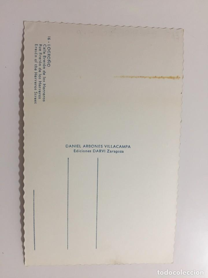 Postales: LOROÑO - CALLE BRETÓN DE LOS HERREROS - Nº 16 ED. DARVI - Foto 2 - 277134458