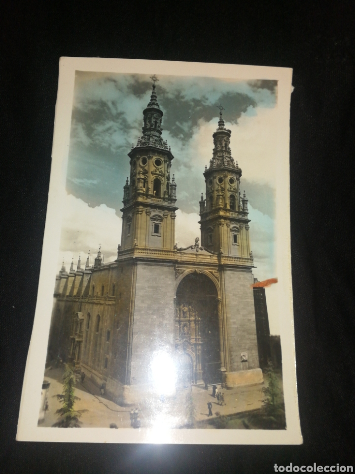 LOGROÑO, COLEGIATA, AÑOS 60. (Postales - España - La Rioja Moderna (desde 1.940))