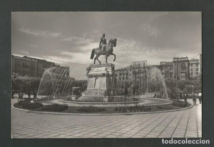 POSTAL CIRCULADA LOGROÑO 36 PASEO DEL ESPOLON MONUMENTO AL GENERAL ESPARTERO EDITA POSTALES VICTORIA (Postales - España - La Rioja Moderna (desde 1.940))