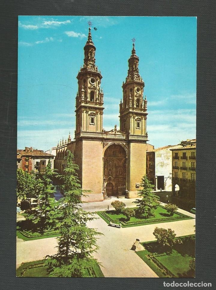 POSTAL SIN CIRCULAR LOGROÑO 658 FACHADA DE LA CATEDRAL EDITA SICILIA (Postales - España - La Rioja Moderna (desde 1.940))