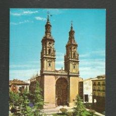 Postales: POSTAL SIN CIRCULAR LOGROÑO 658 FACHADA DE LA CATEDRAL EDITA SICILIA. Lote 277546818
