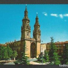 Postales: POSTAL SIN CIRCULAR LOGROÑO 7407 CATEDRASL DE SANTA MARIA DE LA REDONDA EDITA BEASCOA. Lote 277549493