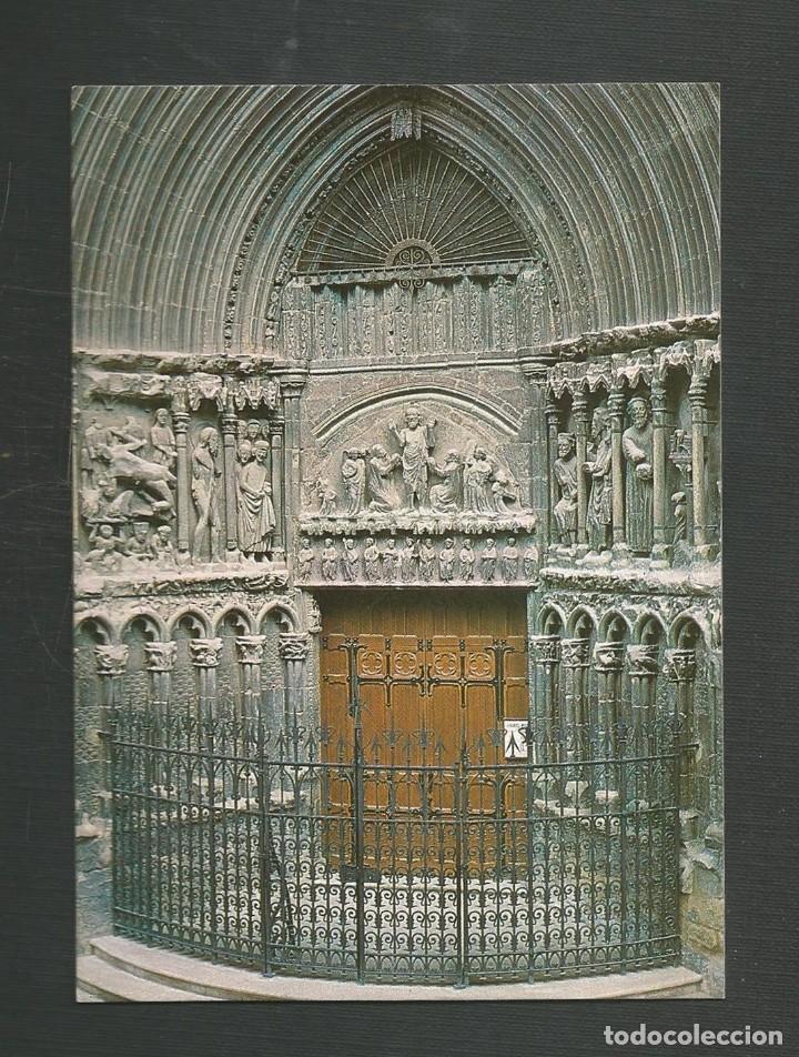 POSTAL SIN CIRCULAR LOGROÑO PUERTA DE LA IGLESIA DE SAN BARTOLOME DITA IMPRENTA MODERNA (Postales - España - La Rioja Moderna (desde 1.940))