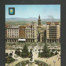 Postales: POSTAL CIRCULADA LOGROÑO 2 PLAZA DEL ESPOLON EDITA ESCUDO DE ORO. Lote 277551793