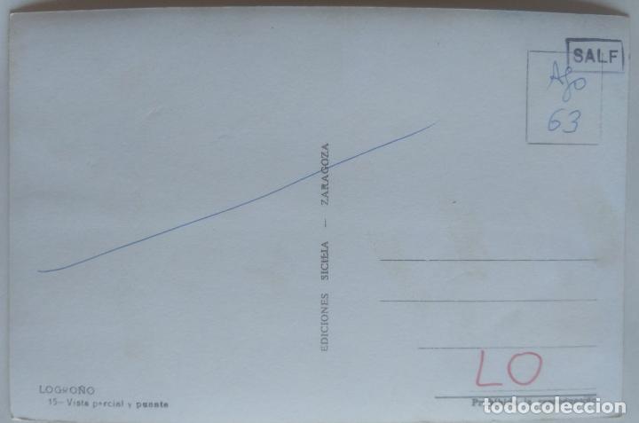Postales: LOGROÑO VISTA PARCIAL Y PUENTE - Foto 2 - 277574538