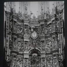 Postales: SANTO DOMINGO DE LA CALZADA (LOGROÑO) CATEDRAL, ALTAR MAYOR, ANTIGUA POSTAL SIN CIRCULAR. Lote 278495593