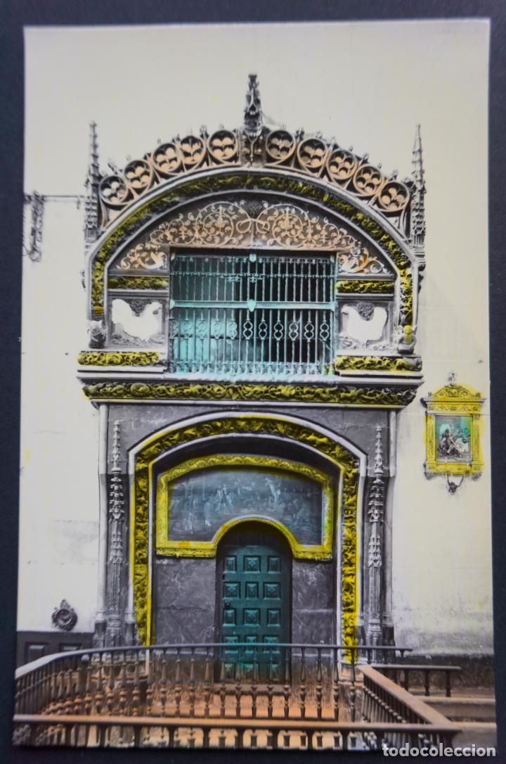 SANTO DOMINGO DE LA CALZADA, HORNACINA DEL GALLO Y LA GALLINA, ALTAR MAYOR, POSTAL SIN CIRCULAR (Postales - España - La Rioja Moderna (desde 1.940))