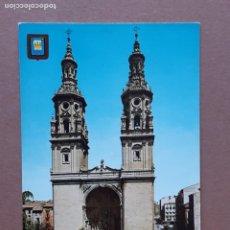 Postales: POSTAL 7 ESCUDO DE ORO. CATEDRAL DE SANTA MARÍA DE LA REDONDA. LOGROÑO. 1967. NO CIRCULADA.. Lote 278619133