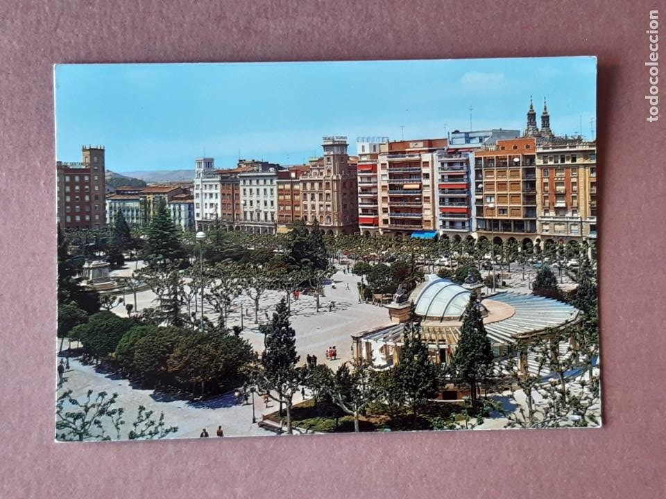 POSTAL 18 SICILIA. PASEO DEL ESPOLÓN. LOGROÑO. LA RIOJA. 1973. NO CIRCULADA. (Postales - España - La Rioja Moderna (desde 1.940))