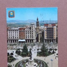 Postales: POSTAL 2 DOMÍNGUEZ. PLAZA DEL ESPOLÓN. LOGROÑO. LA RIOJA. 1966. CIRCULADA.. Lote 278620858