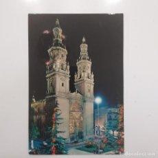 Postales: POSTAL LOGROÑO. CATEDRAL SANTA MARÍA DE LA REDONDA DE NOCHE (LA RIOJA) ESCRITA. Nº 7412 CALPEÑA. Lote 279570813