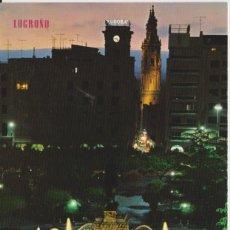 Postales: TARJETA POSTAL. LOGROÑO. FUENTE DEL ESPOLÓN. EDICIONES PARIS. CIRCULADA RODILLO 1977. Lote 284600858
