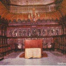 Postales: TARJETA POSTAL. LOGROÑO. CATEDRAL. CORO S. XVI FOTO HERCE 1974 ESCRITA EN REVERSO.. Lote 285083328