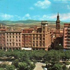 Postales: LOGROÑO - 194 JARDINES DEL ESPOLÓN - FUENTE Y MONUMENTO AL GENERAL ESPARTERO. Lote 286682453