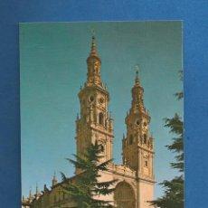 Postales: POSTAL SIN CIRCULAR CATEDRAL SANTA MARIA DE LA REDONDA (LOGROÑO) EDITA FOTO PAYA. Lote 287620088