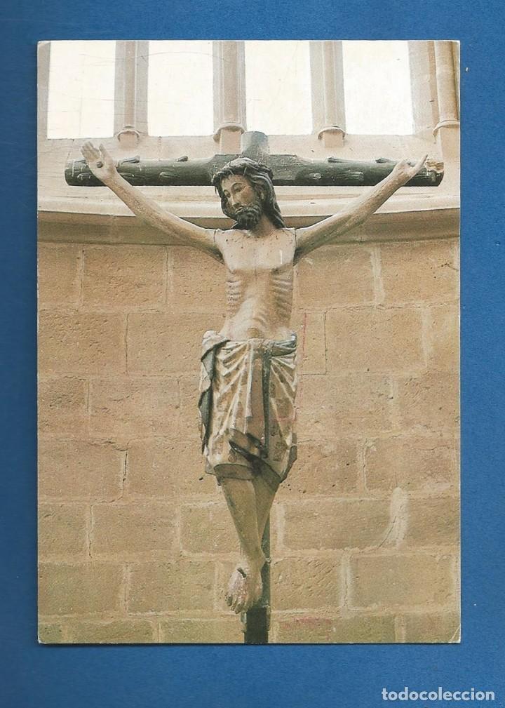 POSTAL SIN CIRCULAR MONASTERIO DE CAÑAS 5 CRUCIFIJO SIGLO XIII LA RIOJA EDITA QUINTANA (Postales - España - La Rioja Moderna (desde 1.940))