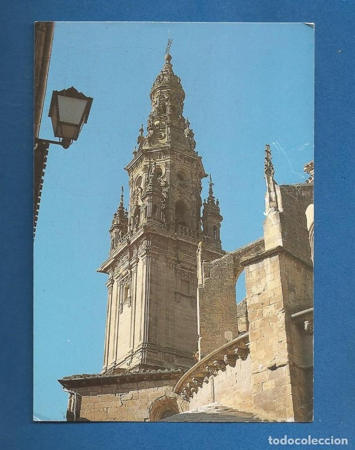 POSTAL SIN CIRCULAR SANTO DOMINGO DE LA CALZADA (LA RIOJA) TORRE CATEDRAL EDITA QUINTANA (Postales - España - La Rioja Moderna (desde 1.940))