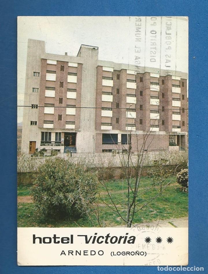 POSTAL CIRCULADA HOTEL VICTORIA ARNEDO (LOGROÑO) EDITA FOTO MARCO (Postales - España - La Rioja Moderna (desde 1.940))