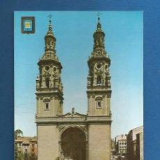 Postales: POSTAL SIN CIRCULAR IMAGENES ESCUDO DE ESPAÑA Nº7 LOGROÑO 1 SERIE CATEDRALES EDITA ESCUDO DE ORO. Lote 287642668