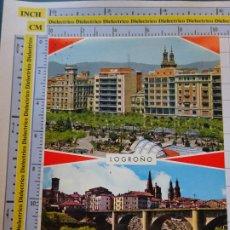 Postales: POSTAL DE LA RIOJA. LOGROÑO PASEO DEL ESPOLÓN Y PUENTE SOBRE RIO EBRO. GARRABELLA . 1064. Lote 290031043