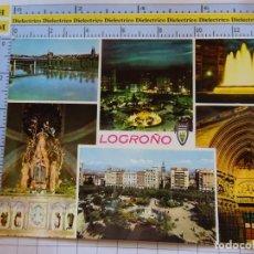 Postales: POSTAL DE LA RIOJA. AÑO 1967. LOGROÑO VISTAS 2015 ARRIBAS. 1065. Lote 290031133