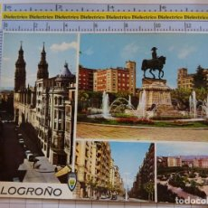 Postales: POSTAL DE LA RIOJA. AÑO 1967. LOGROÑO VISTAS. 2016 ARRIBAS. 1066. Lote 290031353