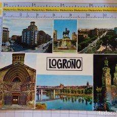 Postales: POSTAL DE LA RIOJA. AÑO 1969. LOGROÑO, VISTAS 7447 CALPEÑA. 1069. Lote 290031788